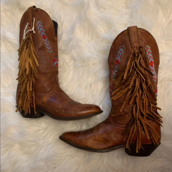 Code West Shoes - Code West Beaded Authentic Cowboy Boots